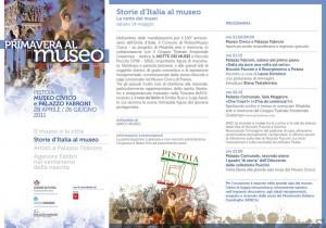 Volantino della Notte dei Musei 2011 di Pistoia